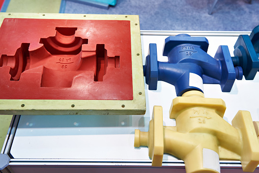 Plastic injection mold used to create a prototype