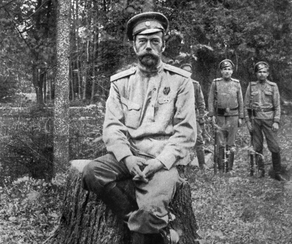 Zar Nikolaus II. in Zarskoje Selo, kurz nach seiner Abdankung. Ihm weinte damals, im März 1917, keiner eine Träne nach / Foto © Library of Congress