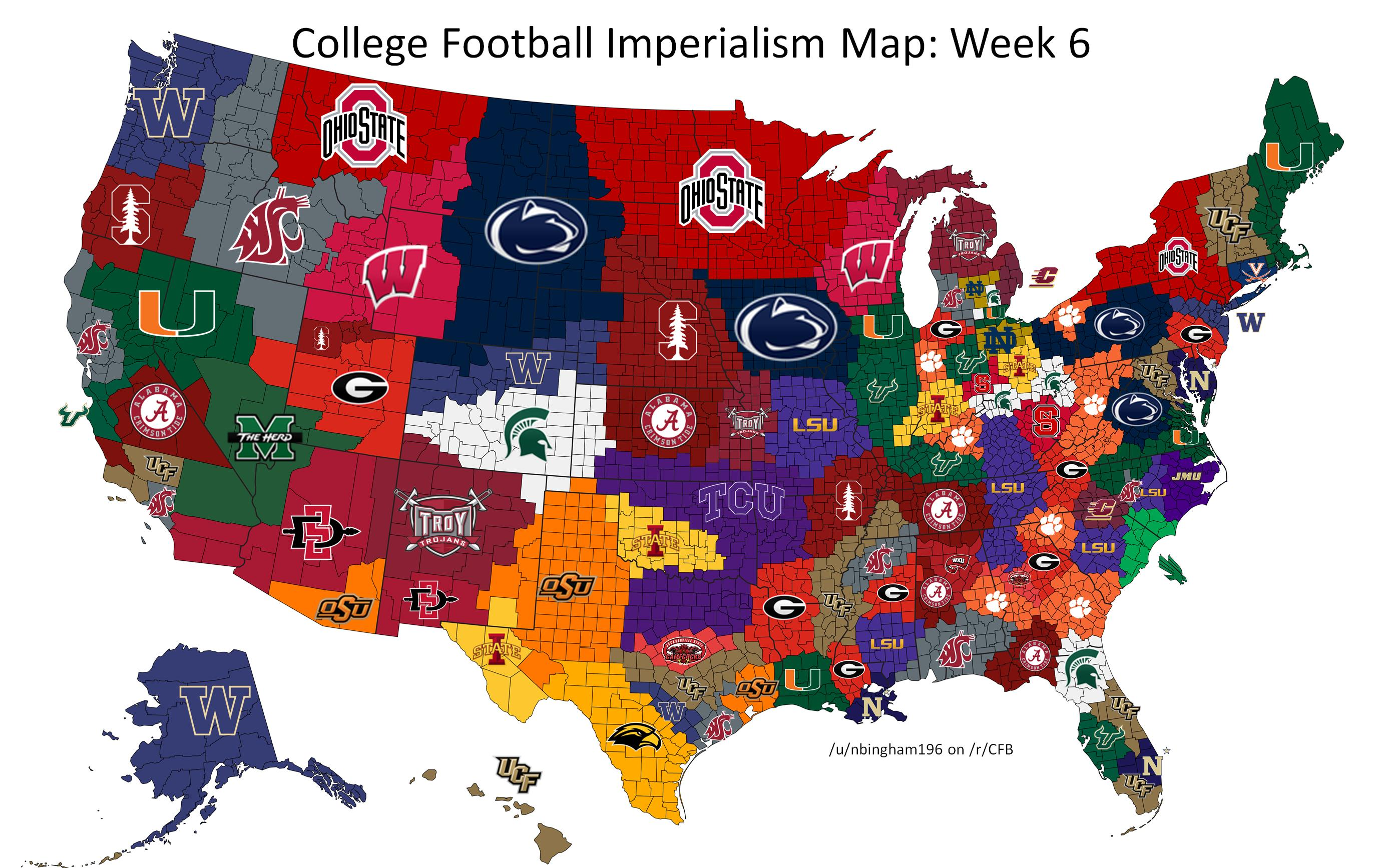 Iowa State Owns Columbus Norman In Reddit Users College Football - Map of us reddit user