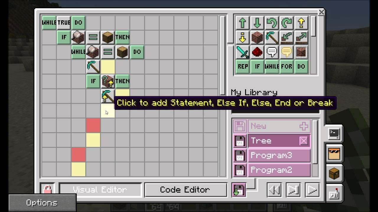 ComputerCraftEdu's visual interface.