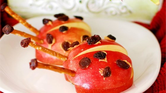 Ladybug apple snacks